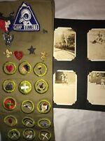 BSA 1930s Merit Badge Sash CAMP WALLOWA Photo Album Eagle Boy Scout Medal RARE