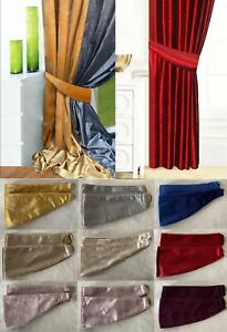PAIR of Crushed velvet Curtains Holdbacks, tie backs,matching curtains available