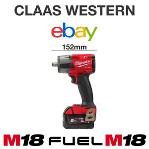 "Milwaukee M18FMTIW2F12-502X 18v 1/2"" Mid Torque Impact Wrench Kit 2 x 5.0ah"