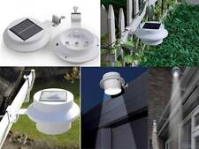 2pc LED SOLAR POWERED GUTTER DOOR FENCE WALL SHED PATHWAY LIGHTS OUTDOOR GARDEN