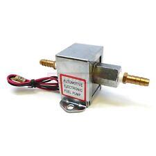 Universal Chrome Square Electric Fuel Pump 4-7 Psi Hot Rat Street Rod Buggy