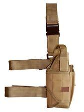 Tornado Holster Coyote Tan Tactical Army Camo Thigh Leg Pistol Right Hand Gun