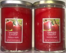 Yankee 20 oz. Candle DELICIOUS APPLE 2-Wick Classic Tumbler (Lot of 2 Candles)
