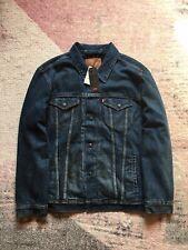 Authentic Levis Trucker Jacket Lined Blue Sized XXL