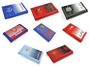 Football Club Team Fade Design Wallet Credit Card Coins Pouch Cash Fan Official