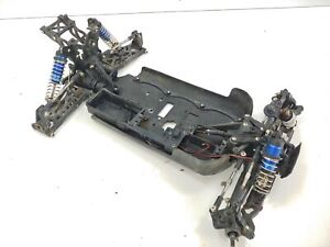 Losi Ten-T 1/10 4wd Nitro Truggy Roller Slider Chassis Used Missing Parts