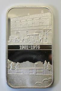 RARE *PROOF* 1976 World Wide Mint Coca-Cola Columbus, GA Silver Art Bar, Type I