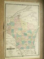 Wisconsin Map 1878 Michigan Atlas History