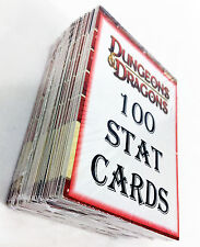 100 Dungeons & Dragons Miniatures Stat Cards Custom Pack D&D C/UC Lot MANY RACES