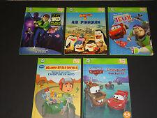 HTF Lot - 5 FRENCH - Leapfrog TAG Reading System Books Hardcover Disney 4-8ans