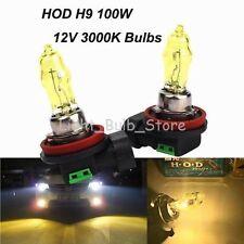 1 Pair H9 3000K 12V 100W Xenon HOD Golden Halogen Headlight For Volkswagen Audi