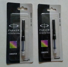 2 X PARKER Ink Converter Converters * Original, Sealed, New * Free Shipping