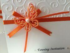 10 x handmade Tattered pizzo farfalla wedding invitations