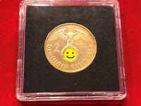 2 Reichsmark 1937, 1938, 1939 HK - 24 Karat vergoldet Drittes Reich Münze Coin