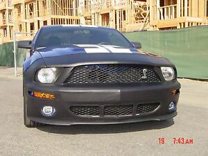 Colgan Front End Mask Bra 2pc. Fits Ford Mustang Shelby GT500 2007-2009 W/O TAG