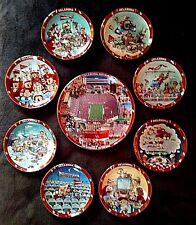Oklahoma Sooners, Danbury Mint 9-Piece Collector Plate Set, OU Football, WOW!