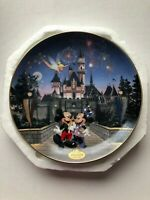 Mickey Mouse Plate in the Limited Edition of Sleeping Beauty Castle