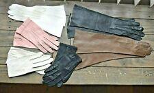 Lot of 6 pair Vintage Kid Leather Gloves France