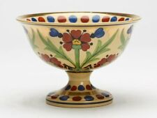 ART DECO WEDGWOOD MILLY TAPLIN FLORAL PAINTED PEDESTAL BOWL