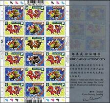 Singapur Singapore 2002 Jahr des Pferdes Neujahr Zodiac 1086-1089 Kleinbogen MNH