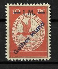 "Germany 1912 German Reich 10 pf. ""Gelber Hund (Yellow Dog) Mi.Nr. IV  SIGNED MNH"