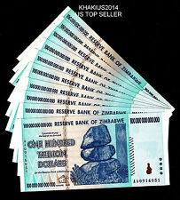 ONE Zimbabwe 100 Trillion Dollar Note AA 2008 series CIRCULATED