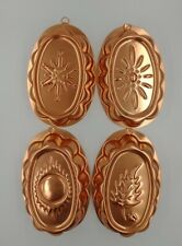 4 Seasons Vintage Copper Jello Food Mold Spring, Summer, Fall, Winter 3 Cups