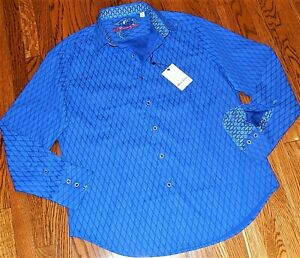 ROBERT GRAHAM MENS AUTHENTIC BRAND NEW BLUE ORIGINAL DRESS SHIRT Size 2XL, NWT