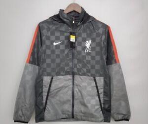 Liverpool FC Nike Windrunner - Black/Grey windbreaker Jacket Xl Slim Fit