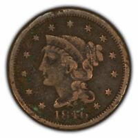 1846 1c Braided Hair Large Cent SKU-Y2720