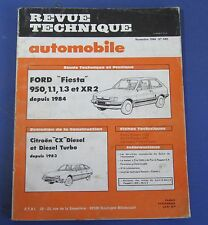Revue technique  RTA 449 Ford fiesta 950 1.1 1.3 et XR2 depuis 1984