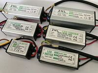 10-100W LED Driver Input AC85-265V Power Supply Waterproof For loodlight 1-10Pck
