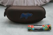 NEW Maui Jim large Brown Zippered Sport Sunglass Case w.  Pouch & Cloth