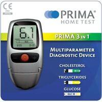 Prima Home Test 3-in-1 Meter for Glucose / Cholesterol / Triglycerides COMBI SET