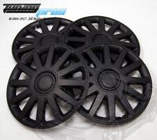 "4pcs Qty 4 Wheel Cover Rim Skin Cover 15"" Inch, Style 610 15"" Hubcap Matte Black"