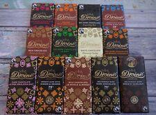 DIVINE Fair Trade Chocolate * Large Bars * Dark (Vegan) Milk White P&P Discount
