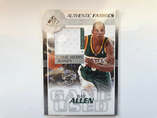 Ray Allen Seattle Supersonics 2003-2004 Authentic Game Used Jersey Card