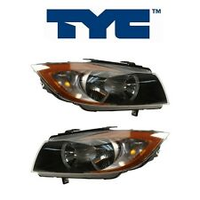 For BMW E90 E91 325i 2006 335xi 07-08 Set Pair Of 2 Halogen Headlight Assy TYC