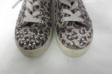 Kids Platform Leopard Sneaker Stud Toe Sz 2 Shoes