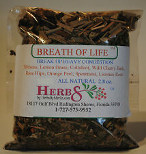Herbs by Merlin BREATH OF LIFE TEA- (Deep Congestion) Organic Tea 2.8 oz