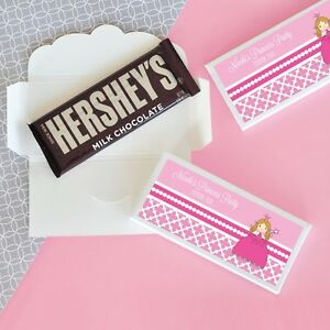 24 Personalized Pink Princess Candy Bar Wrappers Birthday Party Favors