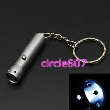 Mini W LED Flashlight Lamp Light Torch Keychain + Battery New