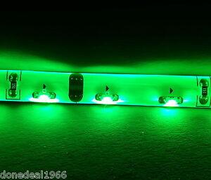 GREEN PC MODDING TWIN 50CM STRIPS MOBO CASE BACKLIGHT KIT - MOLEX POWER