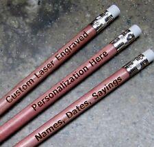 24 PERSONALIZED Regular Pencils - Ceder Look Pencils