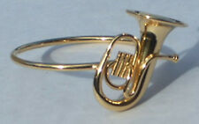 "Baritone replica 1.25"" handmade collectible brass gold plated Napkin Ring"