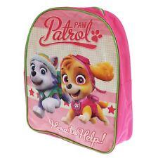 Paw Patrol Skye Everest Aquí para Ayudar A Mochila Escolar Bolsa Rosa Niña