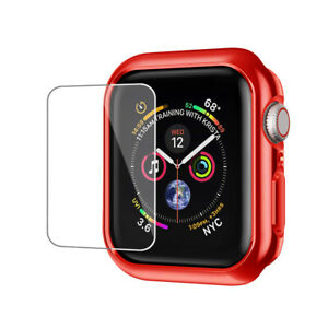 For Apple Watch Series 6 5 4 SE 40 44mm Bumper Hard Case Cover Screen Protector