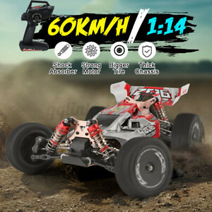Wltoys XKS 144001 Metal RC Car 60km/H 1/14 RC Buggys 4WD Fast Race Off-Road RTR