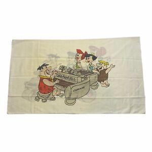Vintage Flintstones 60s 70s Hanna-Barbera Productions Pillow Case Queen Size