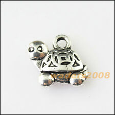 10 New Animal Tortoise Turtle Tibetan Silver Tone Charms Pendants 13x15mm